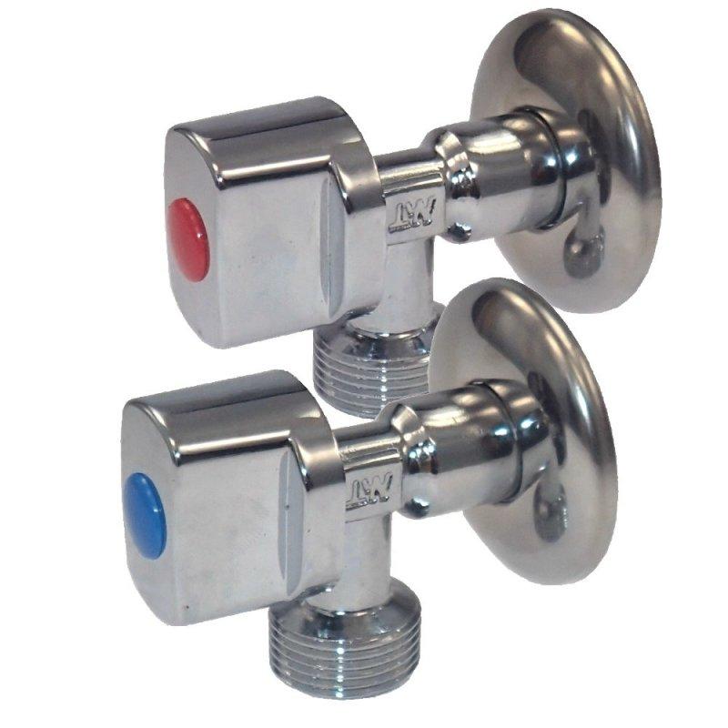 Eckventil 12 Zoll Eckventil Waschmaschine (2 Stk), 5 ~ Waschmaschine Wasseranschluss