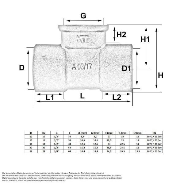 l tfitting t st ck 15 mm x 1 2 zoll 1 43. Black Bedroom Furniture Sets. Home Design Ideas