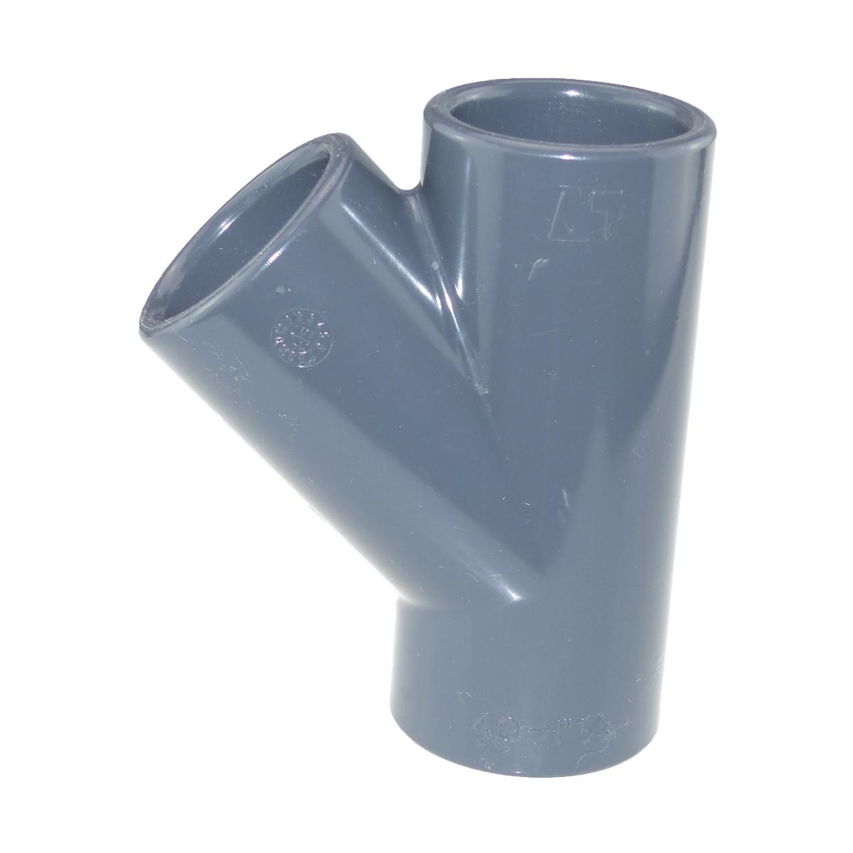 Cepex/Plimat/CH PVC T-Stck 45 Grad Klebemuffe 20 mm